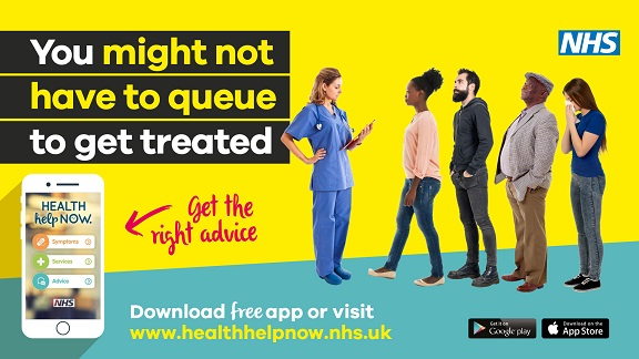 . You might not have to queue to get treated. Get the right advice. health help now
